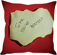 StyBuzz You Are Perfect Note Love Printed Cushions Cover (40 Cm*40 Cm, Multicolor)