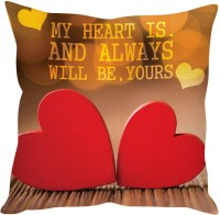 StyBuzz Is And Always Yours Hearts Printed Cushions Cover (40 Cm*40 Cm)