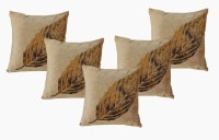 Dekor World Royal Printed Leaf Collection Cushions Cover (Pack Of 5)
