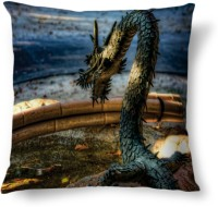 Amy Big Scary Dragon Abstract Cushions Cover (40.64 Cm*40.64 Cm, Multicolor)