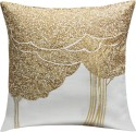 13 Odds 13 Odds Bodhi Tree Embroidered, White & Gold Cushion Cushions Cover - Pack Of 1