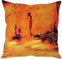 StyBuzz Modern Art Printed Cushions Cover (40*40, Orange)
