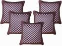 Dekor World Checks Cushions Cover - Pack Of 5