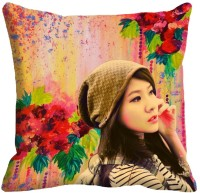Holicshop Girl Digitally Cushion Cover Printed Cushions Cover (40.64 Cm*40.64 Cm, Multicolor)
