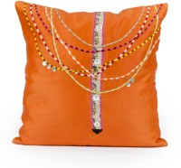 Indian August Embroidered Embroidered Cushions Cover (40.64 Cm*40.64 Cm)