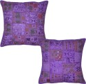 Lal Haveli Handmade Patchwork Embroidered Cushions Cover - Pack Of 2 - CPCDYP9YMZBNGQJG