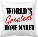 Tiedribbons World Greatest Home Maker Gifts For Wife Cushions Cover - Pack Of 1