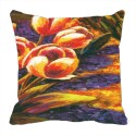 MeSleep Painted 4 Flower Digitally Printed Cushions Cover - Pack Of 1