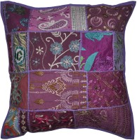 Lal Haveli Beautiful Home Decorative Khambadia Patchwork Cotton 24x24 Inches Abstract Cushions Cover (Cushion Cover, 60.96 Cm*60.96 Cm)