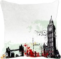MeSleep Grey City Digitally Printed Cushions Cover - Pack Of 1