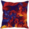 STYBUZZ Fiery Red Abstract Cushion Cushions Cover - CPCDWR74H5PUDRCF