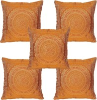 JBG Home Store Abstract Cushions Cover (Pack Of 5, 40 Cm, Orange)