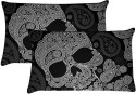 MeSleep Shades Of Black Ghost Pillows Cover - Pack Of 2