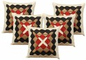 Dekor World Triangle World Cushions Cover - Pack Of 5