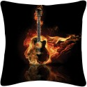 Amore Decor Guitar On Fire Cushions Cover - Pack Of 1