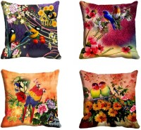 Mesleep Parrot Digitally Printed Cushions Cover (Pack Of 4)