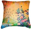 Belkado Digital Print Peacock II Cushions Cover - Pack Of 1
