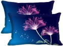 Mesleep Pink Flower Digitally Printed Pillows Cover - Pack Of 2