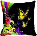 MeSleep Multiple Butterfly Digitally Printed Cushions Cover - Pack Of 1