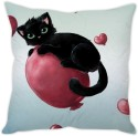 StyBuzz Cute Black Cat Cushion Cover Cushions Cover - Pack Of 1