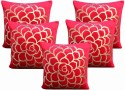 Dekor World Cotton Velvet Roses Collection Cushions Cover - Pack Of 5 - CPCDWYYRXHYYJTE8