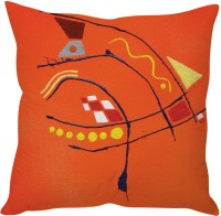 StyBuzz Orange Painting Printed Cushions Cover (40 Cm*40 Cm, Multicolor)