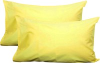 Milano Home Plain Pillows Cover Pack Of 2, 48 Cm*76 Cm, Yellow