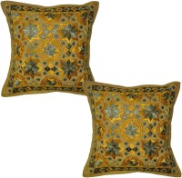 Lal Haveli Embroidered Cushions Cover (Pack Of 2, 16 Cm*16 Cm, Multicolor)