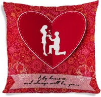 ShopMantra Couple Proposing Heart Printed Cushions Cover (40.64 Cm*40.64 Cm)