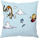 StyBuzz Calvin And Hobbes (12x12) Cushions Cover - Pack Of 1