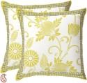 Aapno Rajasthan Chrysanthemum Design Pigment Print Cushions Cover - Pack Of 2