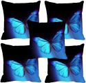 MeSleep Butterfly Digitally Printed Cushions Cover - Pack Of 5