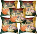 Belkado Digital Print - Indian Princess Cushions Cover - Pack Of 5