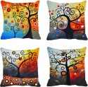 MeSleep Trees Digitally Printed Cushions Cover - Pack Of 4