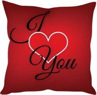 StyBuzz I Love You Calibri Text On Red Printed Cushions Cover (Cushion Pillow Cover, 40 Cm*40 Cm)