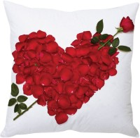 StyBuzz Rose Petals Heart Printed Cushions Cover (40 Cm*40 Cm)
