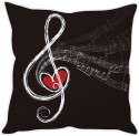 StyBuzz Love Musical Note Cushion Cover Cushions Cover - Pack Of 1