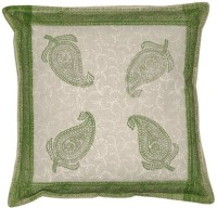 Lal Haveli Rajasthani Paisley Design Block 16x16 Inches Printed Cushions Cover (Pack Of 2, 41 Cm*41 Cm, Multicolor)