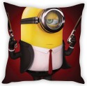 StyBuzz Minion In Black Cushion Cover Cushions Cover - Pack Of 1