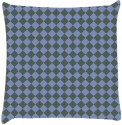 Snoogg Chequered Pattern Design 2243 Throw Pillows 16 X 16 Inch Cushions Cover - Pack Of 1