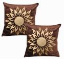 Dekor World Cotton Velvet Rising Sun Cushions Cover - Pack Of 2