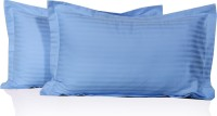 Lnt Striped Pillows Cover (Pack Of 2, 43.2 Cm*69 Cm, Light Blue)