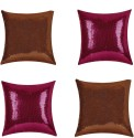 "SEJ By Nisha Gupta Rich Single Color Sequin 16"" By 16"" Cushion Cover. Cushions Cover - Pack Of 4 - CPCDYVZ5HNM68T2Z"