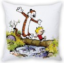 StyBuzz Calvin And Hobbs Crossing (12x12) Cushions Cover - Pack Of 1