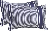 R Home Striped Pillows Cover Pack Of 2, 70 Cm*45 Cm, Blue
