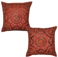 Lal Haveli Embroidered Cushions Cover (Pack Of 2, 41 Cm*41 Cm, Red) - CPCE5G26C6EE6WKB