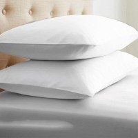 LNT Linen Solid Pillows Cover (Pack Of 2, 43.2 Cm*69 Cm, White)