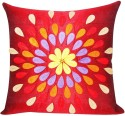 ZIKRAK EXIM Felt Leaves Patch Red Cushions Cover - Pack Of 1