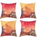 "SEJ By Nisha Gupta HD Digital Print Silk 16"" By 16"" Cushion Cover. Cushions Cover - Pack Of 4 - CPCDYVZ5EG6WEX3C"