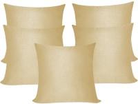 ZIKRAK EXIM Plaid Cushions Cover (Pack Of 5, 40 Cm*40 Cm, Beige)